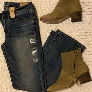 American Eagle boot cut jeans.